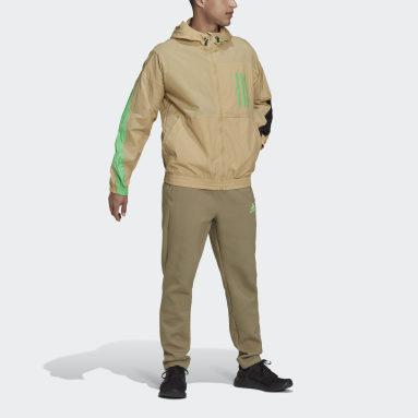 Men Sportswear Beige adidas Sportswear W.N.D. X-City Packable Windbreaker