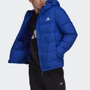 Men City Outdoor Blue Helionic Hooded Down Jacket