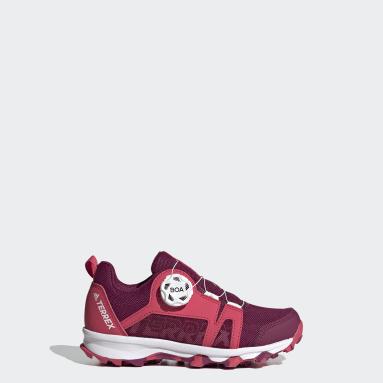Children TERREX Burgundy Terrex Boa Hiking Shoes