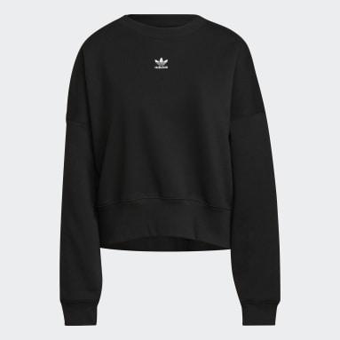 Women's Originals Black Adicolor Essentials Fleece Sweatshirt