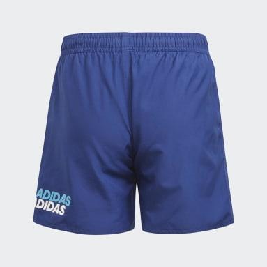 Jungen Schwimmen Lineage Badeshorts Blau