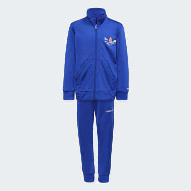 Conjunto de chaqueta y pantalón Adicolor Azul Niño Originals