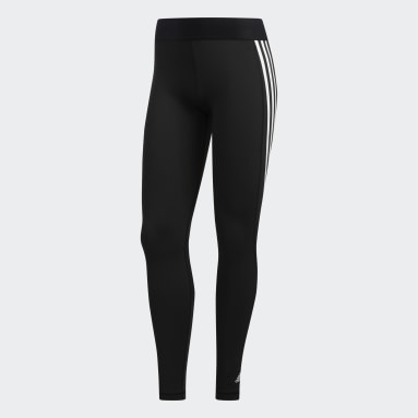Legging Longa Alphaskin 3-Stripes Preto Mulher Training