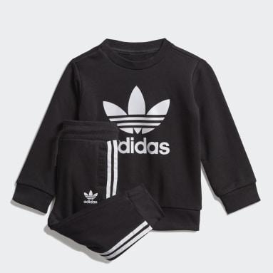 Tuta Crew Sweatshirt Nero Bambini Originals