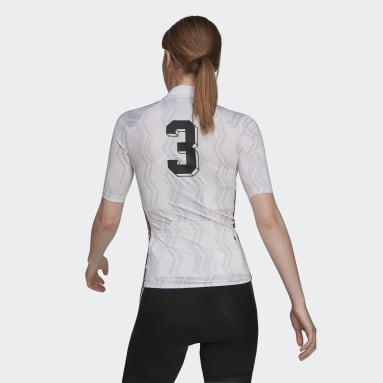 Maillot The Short Sleeve Cycling Graphic Blanco Mujer Ciclismo