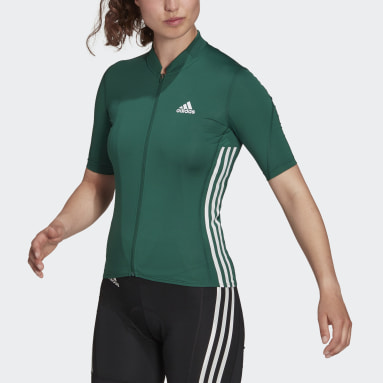 Maillot The Short Sleeve Cycling Vert Femmes Cyclisme