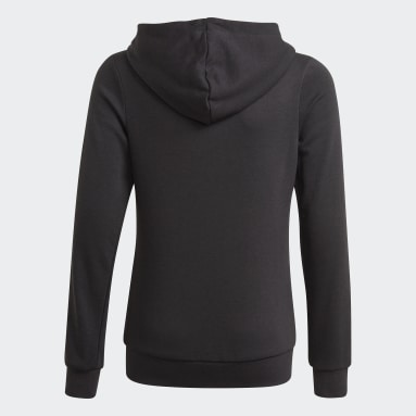 Girls Lifestyle Black adidas Essentials Full-Zip Hoodie