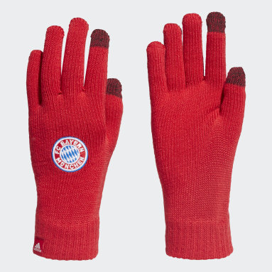 Guantes FC Bayern Rojo Fútbol