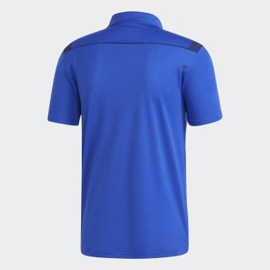 Camiseta Polo Tiro 19 Clima Azul Hombre Fútbol