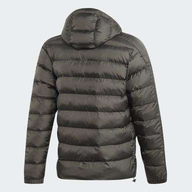 Men City Outdoor Grey Itavic 3-Stripes 2.0 Winter Jacket