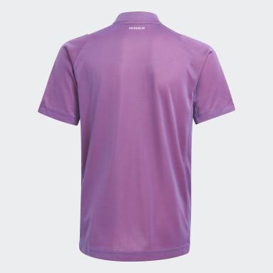 Polo Tennis Freelift Primeblue Violeta Niño Tenis