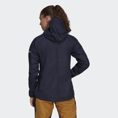 Women TERREX Blue Agravic 3L Jacket