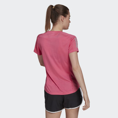 Camisola Own the Run Rosa Mulher Running