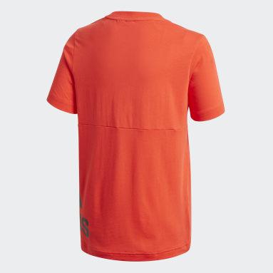 Boys Gym & Training Burgundy Must Haves Big Logo T-Shirt