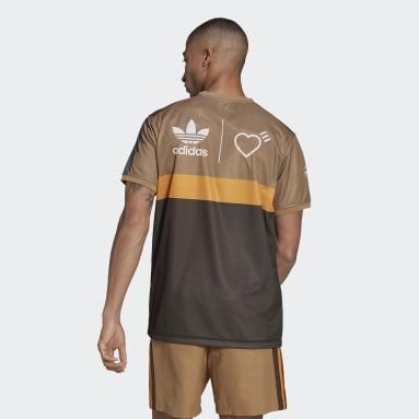 Men Originals Brown Human Made Graphic T-Shirt