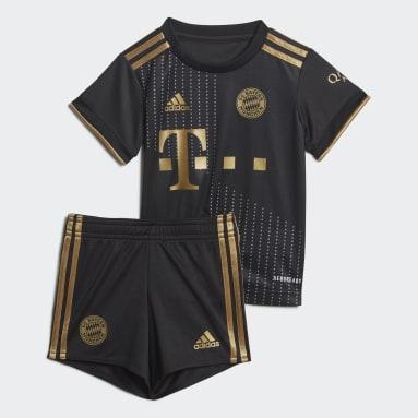 Børn Fodbold Sort FC Bayern 21/22 Baby udebanesæt