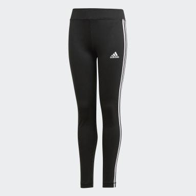 Girls Yoga Sort Training Equipment 3-Stripes tights