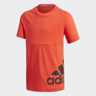 Camiseta Must Haves Big Logo Burgundy Niño Gimnasio Y Entrenamiento