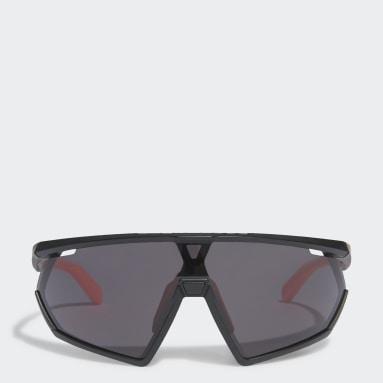 Óculos de Sol em Preto Brilhante Sport SP001 Preto Tênis De Padel