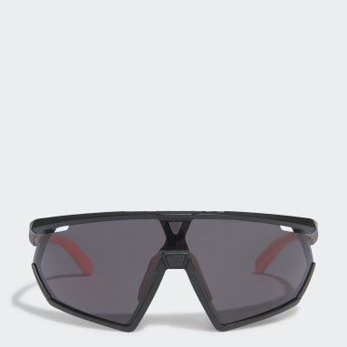SP0001 Shiny Black Injected Sport Solbriller Svart