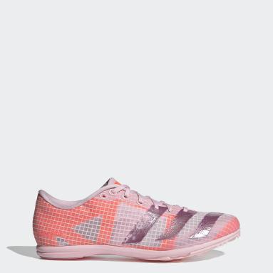 Women Track & Field Pink Distancestar Spikes