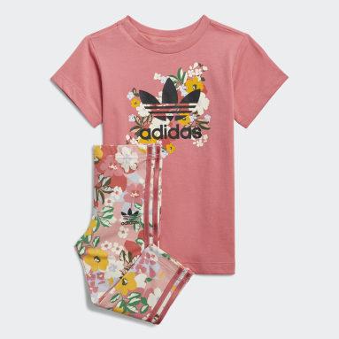 Girls Originals Pink HER Studio London Floral Tee Dress Set
