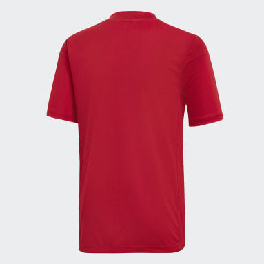 Youth Soccer Red Striped 19 Jersey