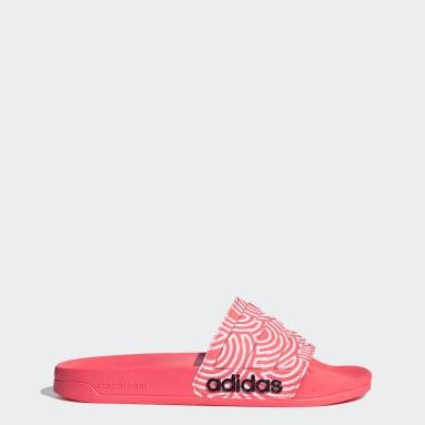ผู้หญิง ว่ายน้ำ สีชมพู รองเท้าแตะ Adilette Shower