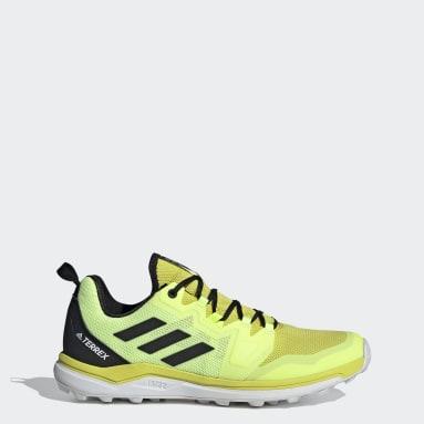 Men TERREX Yellow Terrex Agravic Trail Running Shoes