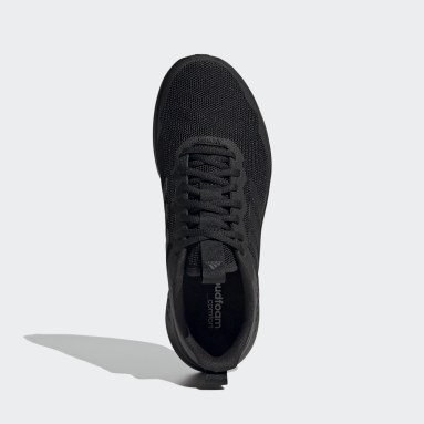 Men Running Black Fluidstreet Shoes