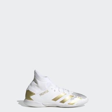 Children Soccer White Predator Mutator 20.3 Indoor Shoes