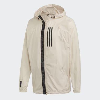 Chamarra adidas W.N.D. Parley Beige Hombre Sportswear