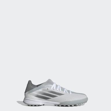 Zapatos de fútbol X Speedflow.3 Pasto Sintético Blanco Niño Fútbol
