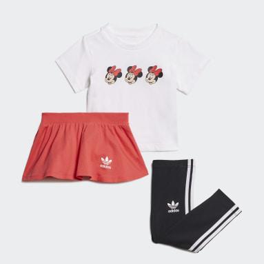 เด็กผู้หญิง Originals สีขาว ชุดเสื้อยืดและกระโปรง Disney Mickey and Friends