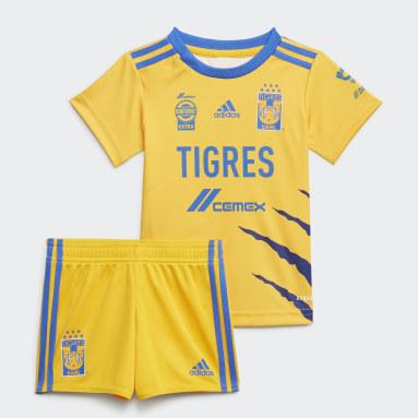 Uniforme Local Tigres UANL 21/22 para Bebé Amarillo Niño Fútbol