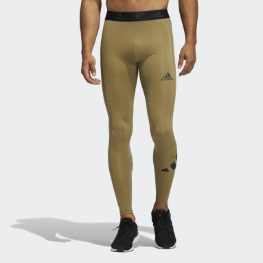 Tight lunghi Techfit Verde Uomo Fitness & Training