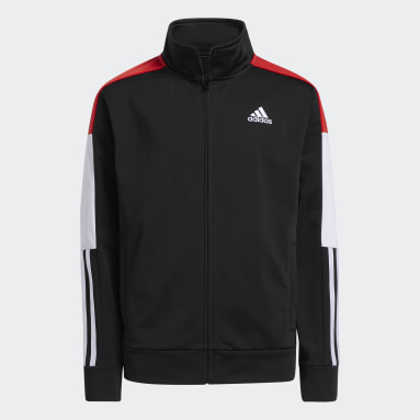 Youth Training Black Colorblock Linear Jacket