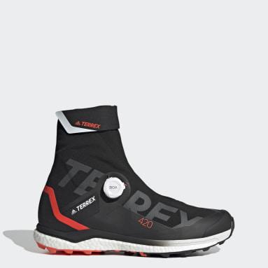 Men TERREX Black Terrex Agravic Tech Pro Trail Running Shoes