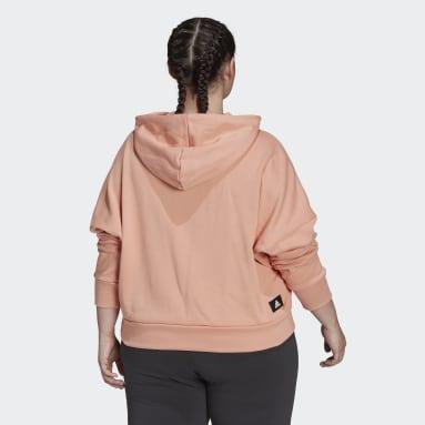 Felpa con cappuccio adidas Sportswear Future Icons (Taglie plus) Rosa Donna Sportswear