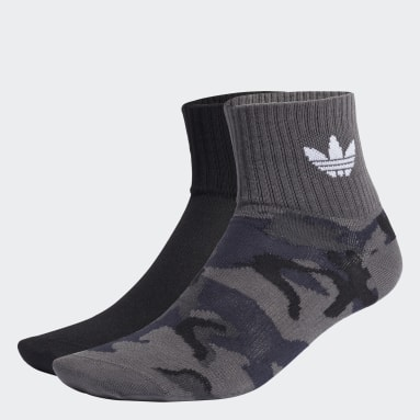 Originals Grey Camo Mid-Ankle Socks 2 Pairs