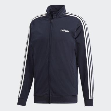 Men's sport_inspired Blue Essentials 3-Stripes Tricot Track Top