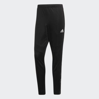 Muži Fotbal černá Kalhoty Tiro 19 Training