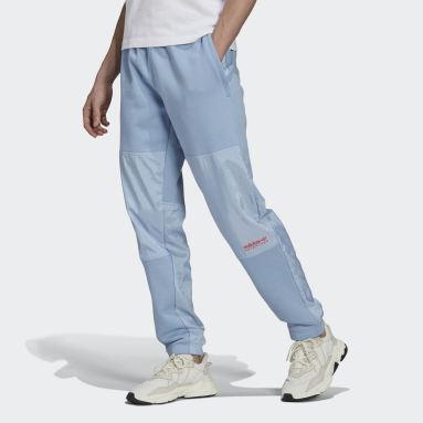 Men Originals Blue adidas Adventure Futura Blocked Sweat Pants