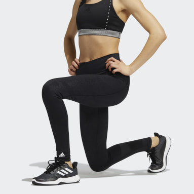 Tight lunghi Believe This Primegreen Camo Nero Donna HIIT