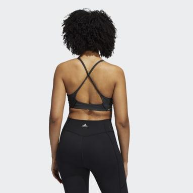 Women Trail Running Black Believe This Primeblue Bra