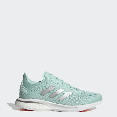 Women Running Green Supernova Shoes