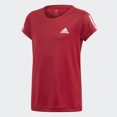 Girls Yoga Burgundy Equipment T-Shirt
