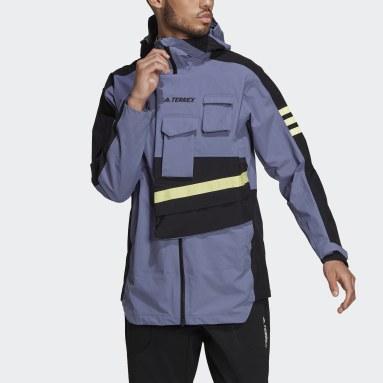 Men TERREX Purple Terrex Xploric Rain Jacket