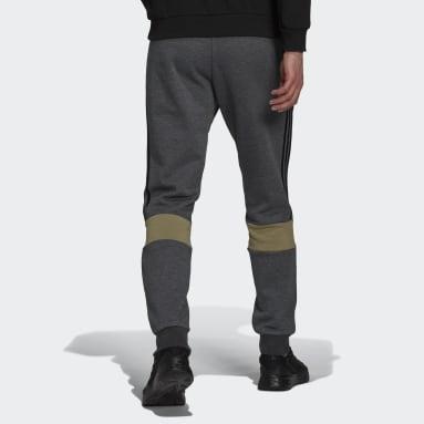 Essentials Fleece Colorblock Bukse Grå