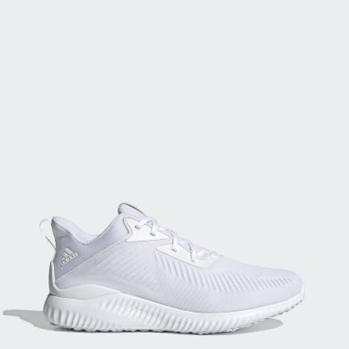 Running White Alphabounce Shoes